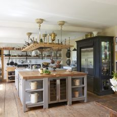 country kitchen at hales hall accommodation for wedding venue