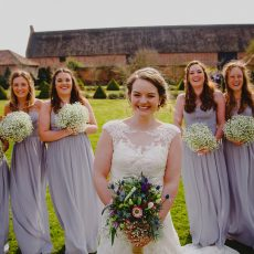 bride and bridesmaids spring weddings 2016 at hales hall and thatched barn in norfolk Loddon