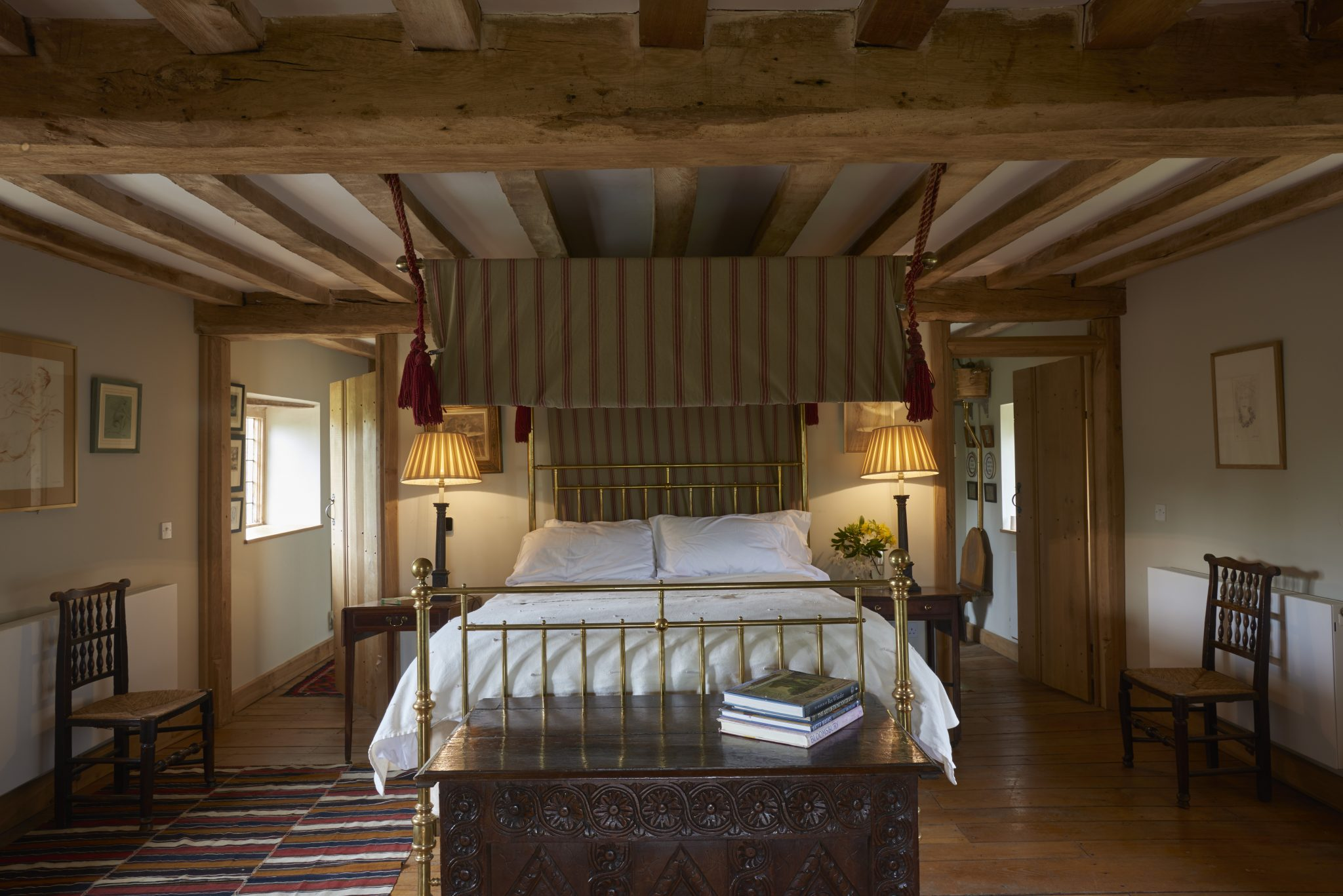 bedroom at Hales Hall sleeping 14 guests in Norfolk