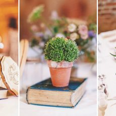 table decorations at hales hall wedding venue norfolk