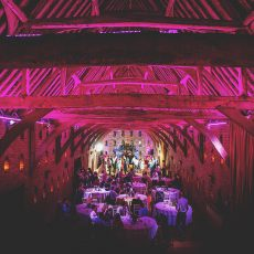 evening wedding reception at hales hall and the great barn in norfolk
