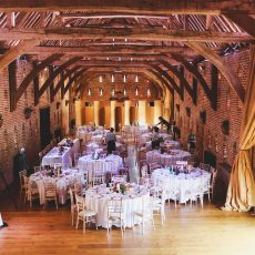 inside the largest thatched brick barn in Britain on norfolk Suffolk border hales hall