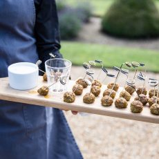 canapes by in-house catering company Picnic for wedding reception at Hales Hall & The Great Barn Norfolk