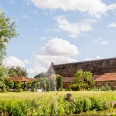 Hales Hall and thatched Great Barn and beautiful gardens in norfolk