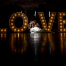 LOVE letters at hales hall barn